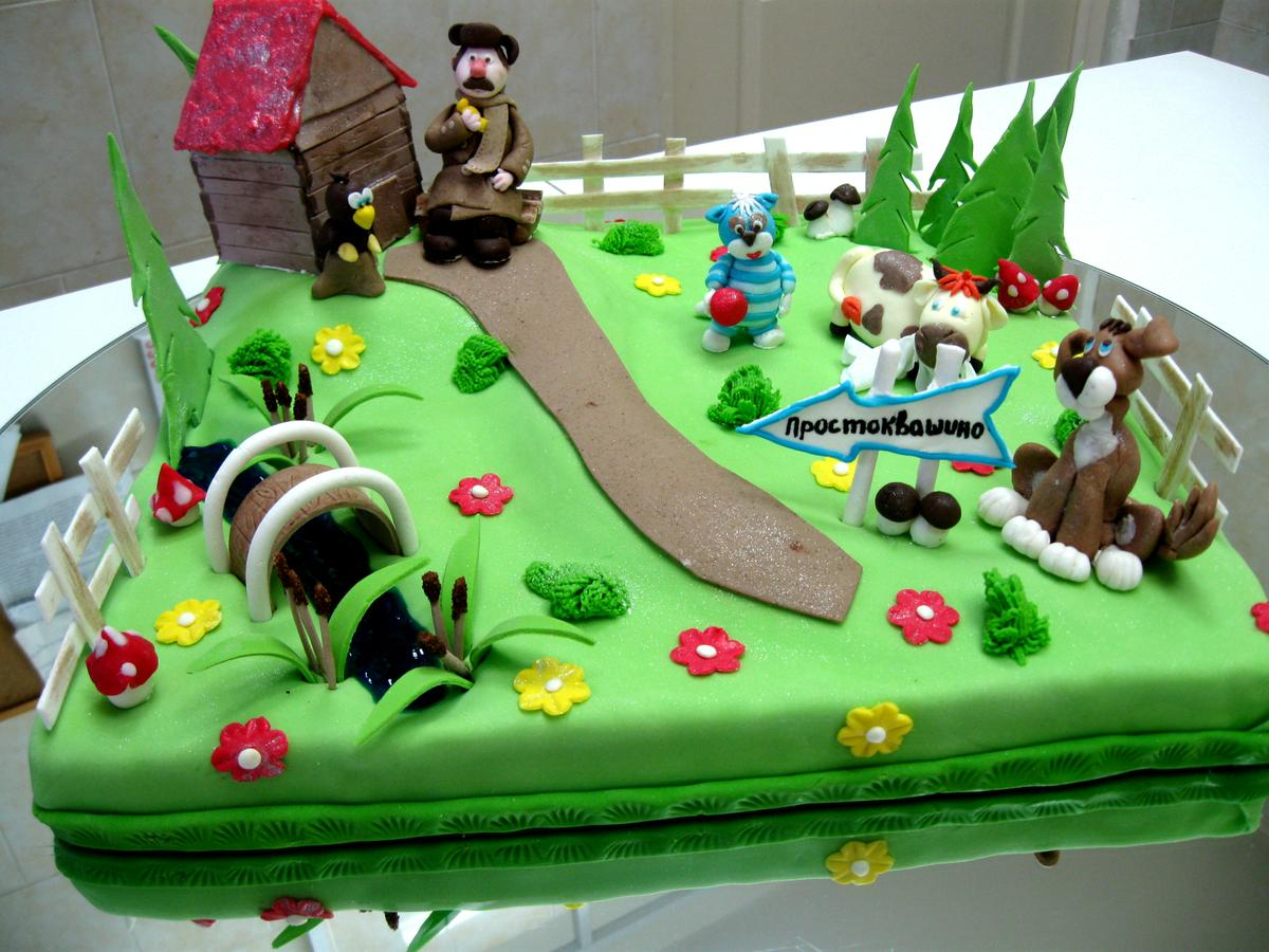 Торт для троих детей фото